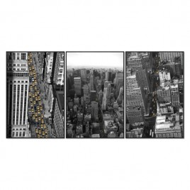 Cuadro Tríptico NEW YORK YELLOW