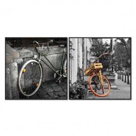 Cuadro Díptico Bicicletas