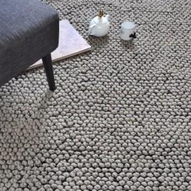 Alfombra modelo 3D confort color gris.