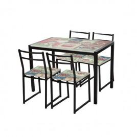 Conjunto de mesa y sillas...