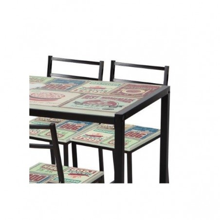 Conjunto de mesa y sillas modelo YURI