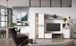 Mueble de salón barato  GULADA  color Roble Arena LEDS