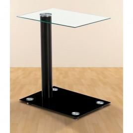 Mesa de centro de cristal...