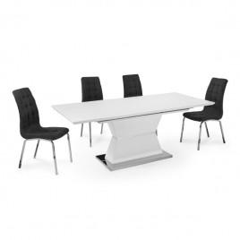 Mesa de Comedor Extensible modelo CUARZO BLANCO MATE