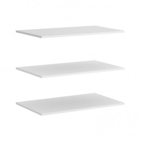 Pack de Estantes para Interior de Mueble Armario 150 Modelo Slide Blanco
