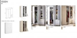 copy of Armario modelo Essen de dos puertas y dos cajones colores blanco brillo y natural