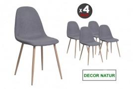 Conjunto de cuatro 4 sillas...