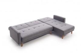 Chaiselongue cama clic clac tela gris modelo ABARTYS