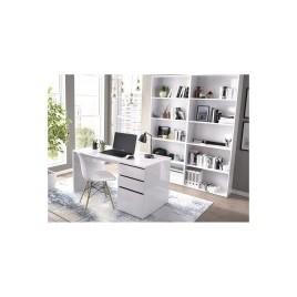 Mesa escritorio 50x138 modelo SHIRO BLANCO BRILLO