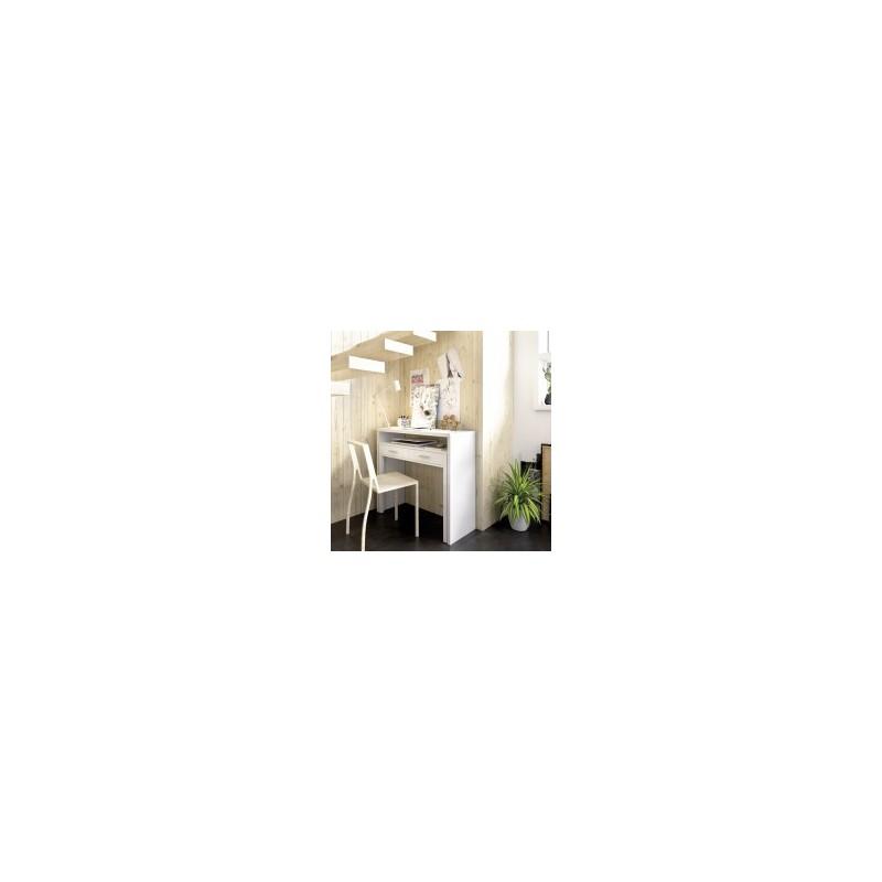 Consola MODELO SEVEN extensible 88x99  en color blanco brillo