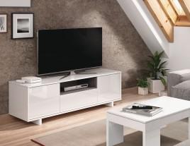 MODULO TV MODELO ZAIDA EN BLANCO BRILLO/GRIS CENIZA