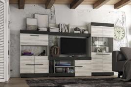 Precioso Mueble de salón SIDNEY 10 en 2 acabados