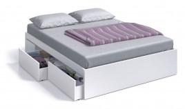 CAMA 4 CAJONES  MODELO BED, EN COLOR BLANCO