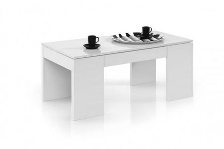 Mesa de centro Elevable KENDRA blanco