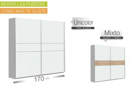 Armario de correderas WINNER 170x210 Blanco