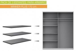 Lote de 3 estantes 82x42 cm...
