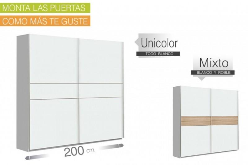 Armario puertas correderas WINNER Plus 200x210 Blanco ENTREGA INMEDIATA