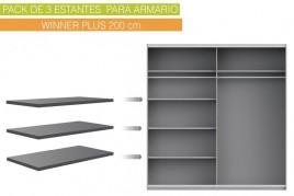 Lote 3 estantes 97x42 cm...