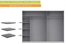 Lote de 3 estantes 48x42 cm...